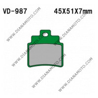 Накладки VD 987 EBC FA355 FERODO FDB2141 LUCAS MCB732 Органични к. 5617