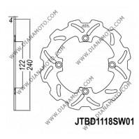 Спирачен диск заден Honda CR 125 - 250 CRE 125 - 250 ф 240x122x4.0 мм 4 болта JT 1118 к. 9004