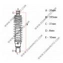 Амортисьор заден регулируем 395 мм Aprilia Scarabeo 125 150 200 равен на код RMS 204550602 к. 8121