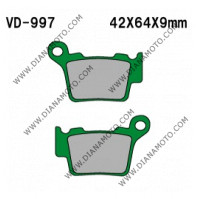 Накладки VD 997 EBC FA368 SBS 791 Ognibene 43029900 Органични к. 41-168