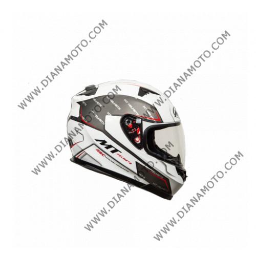 Каска MT Blade SV BOSS Сиво-бяла XL к. 9863