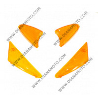 Стъкла за мигачи к-т Peugeot Buxy 50 оранжеви к. 5188