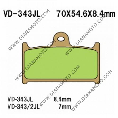 Накладки VD 343 EBC FA236 FA145 FERODO FDB557 LUCAS MCB595 СИНТЕРОВАНИ к. 4602