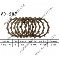 Съединител NHC 148x116x2.8-7 бр 12 зъба CD2240 R Friction paper к. 14-358