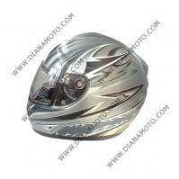 Каска VR1 A2700 сиво-сребристо XL к. 5679
