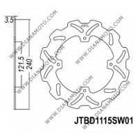 Спирачен диск Honda CRF 250-450 ф 250x121x3.0 мм 4 болта JT 1115 к. 3818