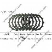 Съединител NHC 152x115x3.1 -7 бр 12 зъба CD3344 R Friction paper к. 14-411