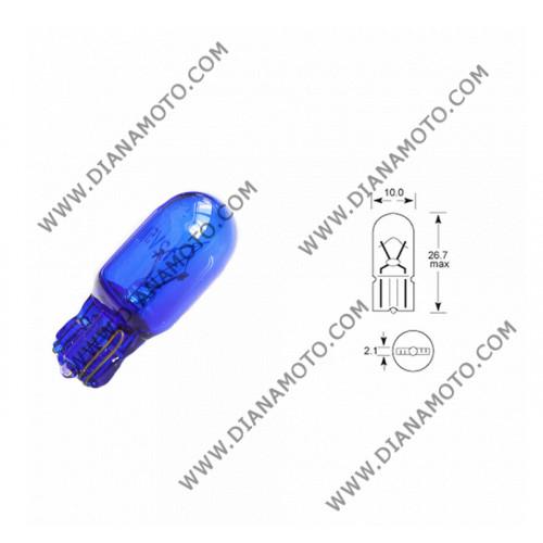 Крушка за километраж 12V/5W сини к. 3658