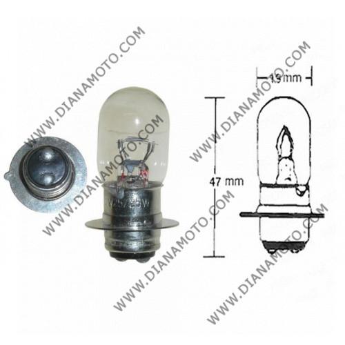 Крушка за фар 12V/35/35W 1краче P15D-1 нормална к. 555
