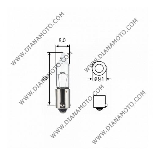 Крушка за мигачи 12V/21W H21 BA9S бяла 120 градуса к. 7372
