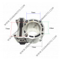 Цилиндър к-т с гарнитури Yamaha Majesty 250  Aprilia Benneli Italjet Malaguti MBK 250 ф 69.00 мм болт 17 мм LC равен на код RMS 100080170 к. 8579