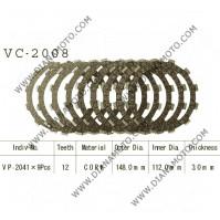 Съединител NHC 148x112x3 -9 бр 12 зъба CD2318 R Friction Paper к. 14-199