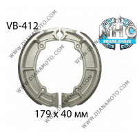 Накладки VB 412 ф 179х40мм MBS4409 EBC709 SBS2060 DUNLOP9118 FERODO FSB719 к. 2300