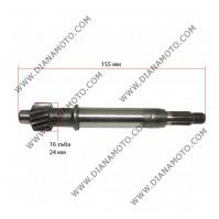 Ос на съединител Longjia LJ50QT-L 16 зъба 22 шлиц L-155 мм k. 3-96