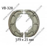 Накладки VB 328 ф 119х25мм EBC 991 624 FERODO FSB777 NHC MBS3321 к. 1869
