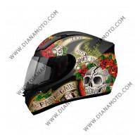 Каска MT REvenge Skull n Rose S к. 8143