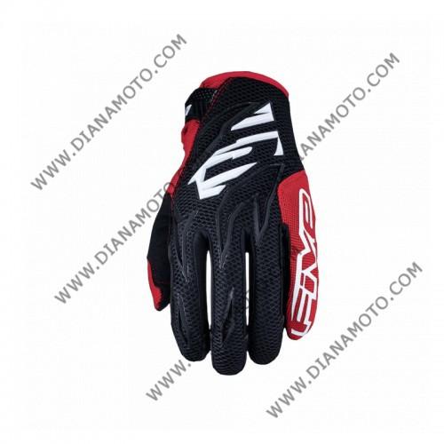 Ръкавици Five MXF3 черно-бяло-червени 2XL к. 4234