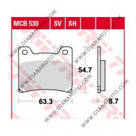 Накладки VD 236 TRW MCB530SV Sinter к. 2688