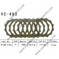 Съединител NHC 144x111x2.8 - 8 бр. 12 зъба CD4514 R Friction Paper к. 14-240