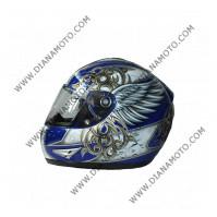 Каска VR1 2700 синьо-сребриста #19 L к. 7526