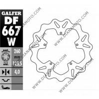 Спирачен диск преден заден Piaggio 125-500 ф 260x125.5x4.0 мм 5 болта DF667 равен на код RMS 225162080 к. 5721