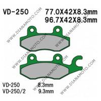 Накладки VD 250 EBC FA215 FA165/2 FERODO FDB631 LUCAS MCB615 Ognibene 43027100 NAGANO Органични к. 2263