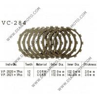 Съединител NHC 172x132x3 -7 бр 172x142x3 -1 бр 12 зъба CD2300 R Friction Paper к. 14-194