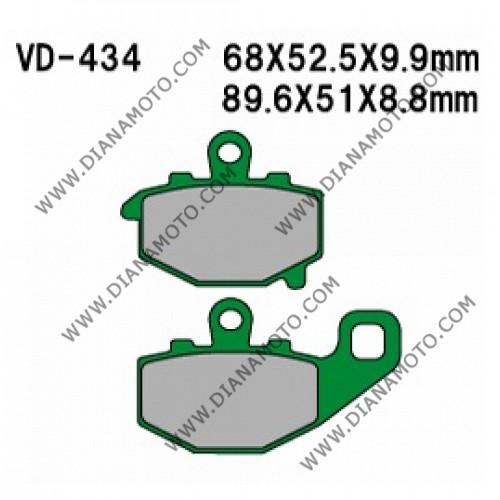 Накладки VD 434 EBC FA192 FERODO FDB2012/R LUCAS MCB662 Ognibene 43026900 Органични к. 41-135