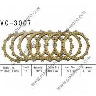 Съединител NHC 160x122.5x3.1 - 8 бр. 12 зъба CD3453 R Friction paper к. 14-372