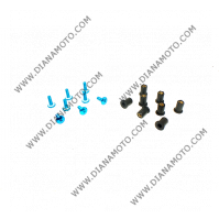 Болтове закрепващи спойлери и слюда к-т универсални 5x15 Сини 8 броя к. 6841