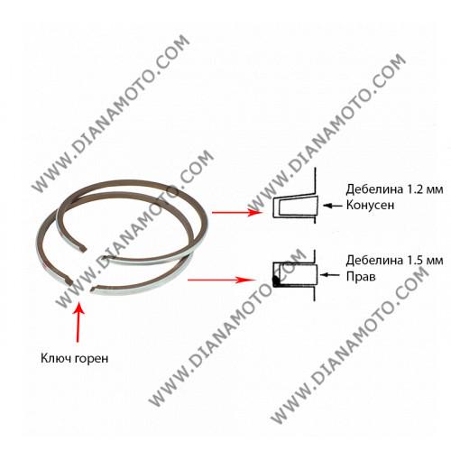 Сегменти 41.50 мм 1.2 конус + 1.5 прав ключ горен 2T к. 5261