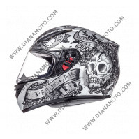 Каска MT Revenge Skull n Rose антрацит размер L к.9852