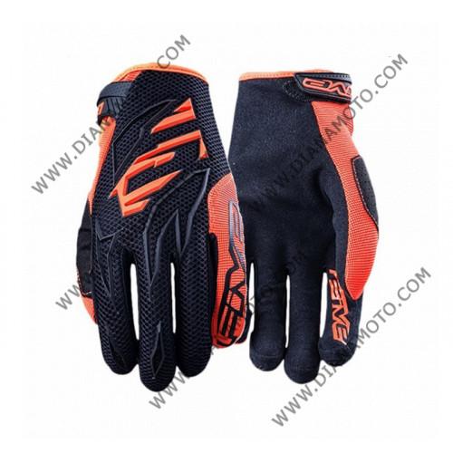 Ръкавици Five MXF3 черно-оранжеви XL k. 3783