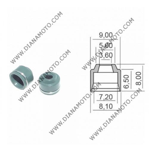 Гумички за клапан Yamaha TMAX 530 XJ6 FZ1 3.6x7.2-6.8x8 равни на код RMS 100669320 к. 9589