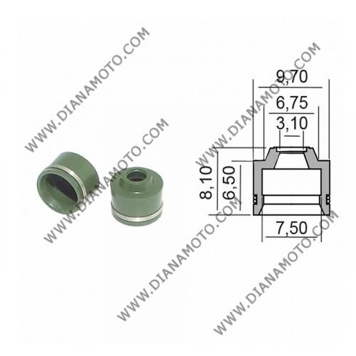 Гумички за клапан Aprilia Scarabeo Leonardo Rotax Honda CBR 600 900 3.1x6.75-9.7x6.5-8.1 Athena P400210420601 равни на код RMS 100669230 k. 9285