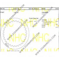Метални дискове за съединител NHC P047 Suzuki Kawasaki 145.7x112.5x1.5  30 зъба к. 14-262