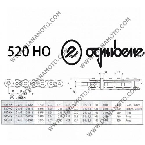 Верига Ognibene 520 HO G&B - 114L к. 41-47