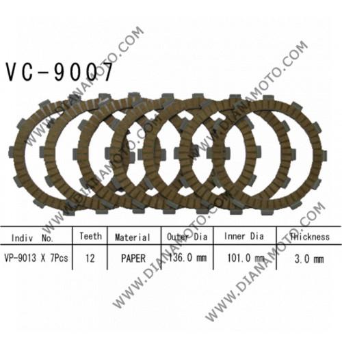 Съединител NHC 136x101x3.0 - 7 бр. 12 зъба CD5611 Friction paper к. 14-423