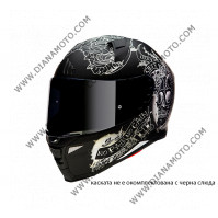 Каска MT Revenge 2 Skull n Rose размер XS черен мат к. 8139