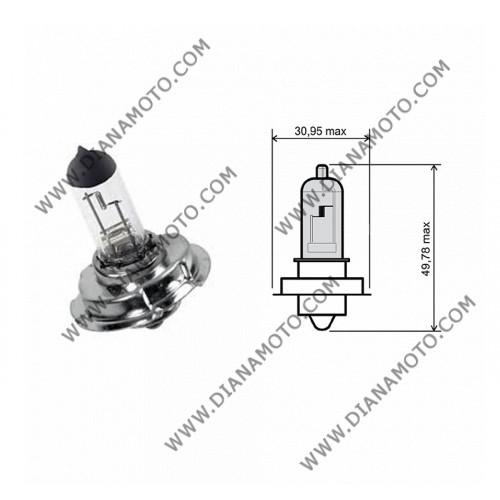 Крушка за фар Piaggio 12V/25W халоген бяла к. 568