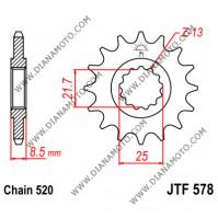 Зъбчатка предна JTF 578 - 16 к. 7109