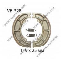 Накладки VB 328 ф 119х25мм EBC 991 624 FERODO FSB777 NHC MBS3321 к. 796